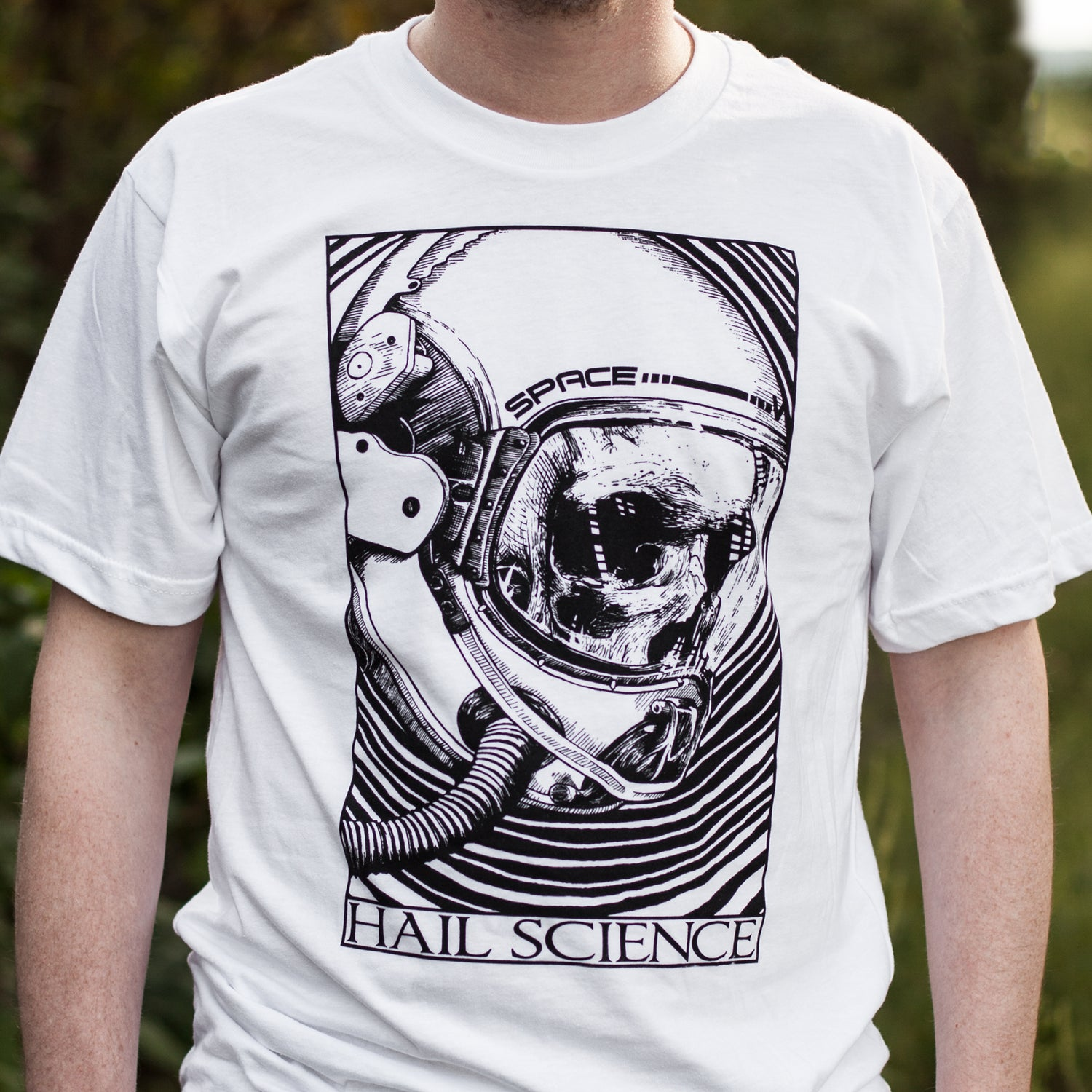 Image of Hail Science White Unisex T