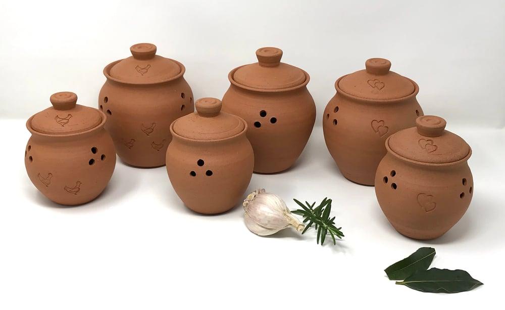 Image of Garlic storage pot