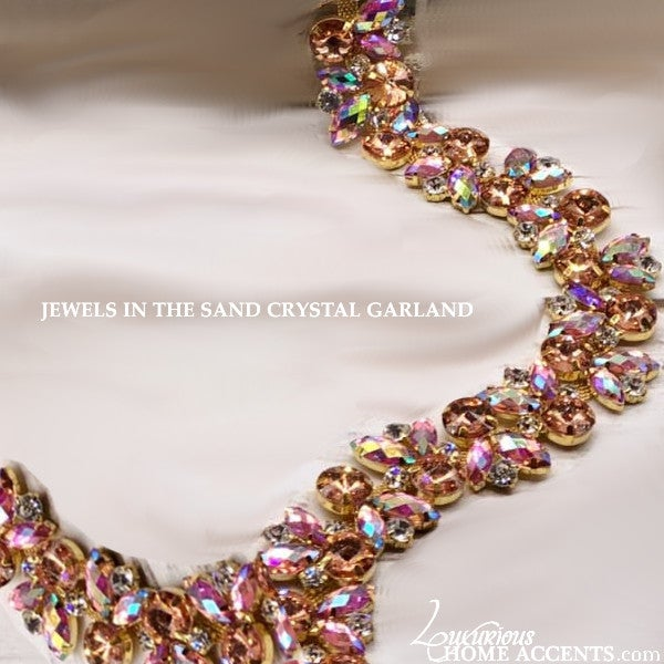 Image of Coastal Living Jewels In The Sand Crystal Garland