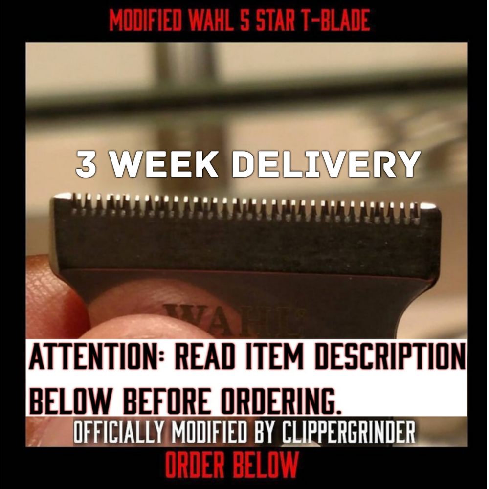Image of (3 Week Delivery/High Order Volume) Modified Wahl 5 Star Hero/T-Shaped Blade
