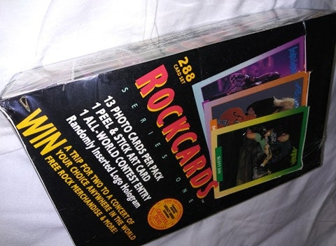 1991 Rock Cards Series 1 Sealed Booster Box (36 packs)