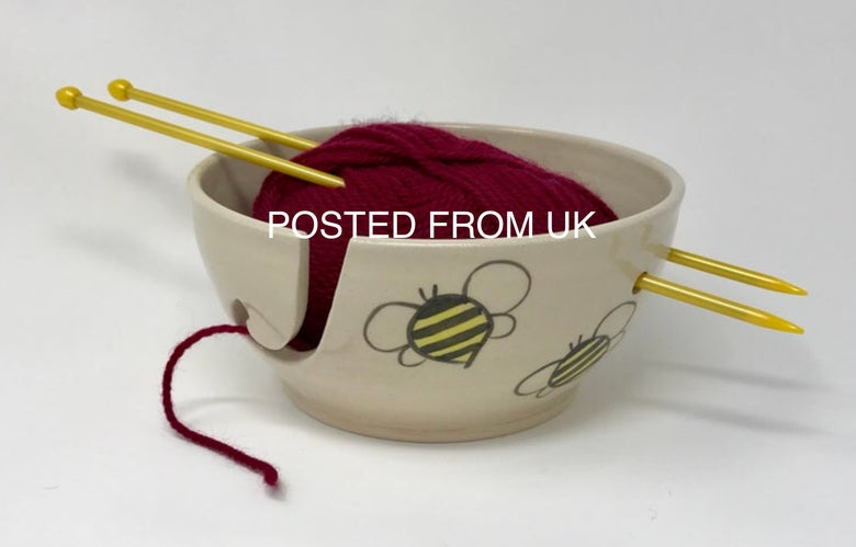 Image of Medium Bee decorated Wool bowl