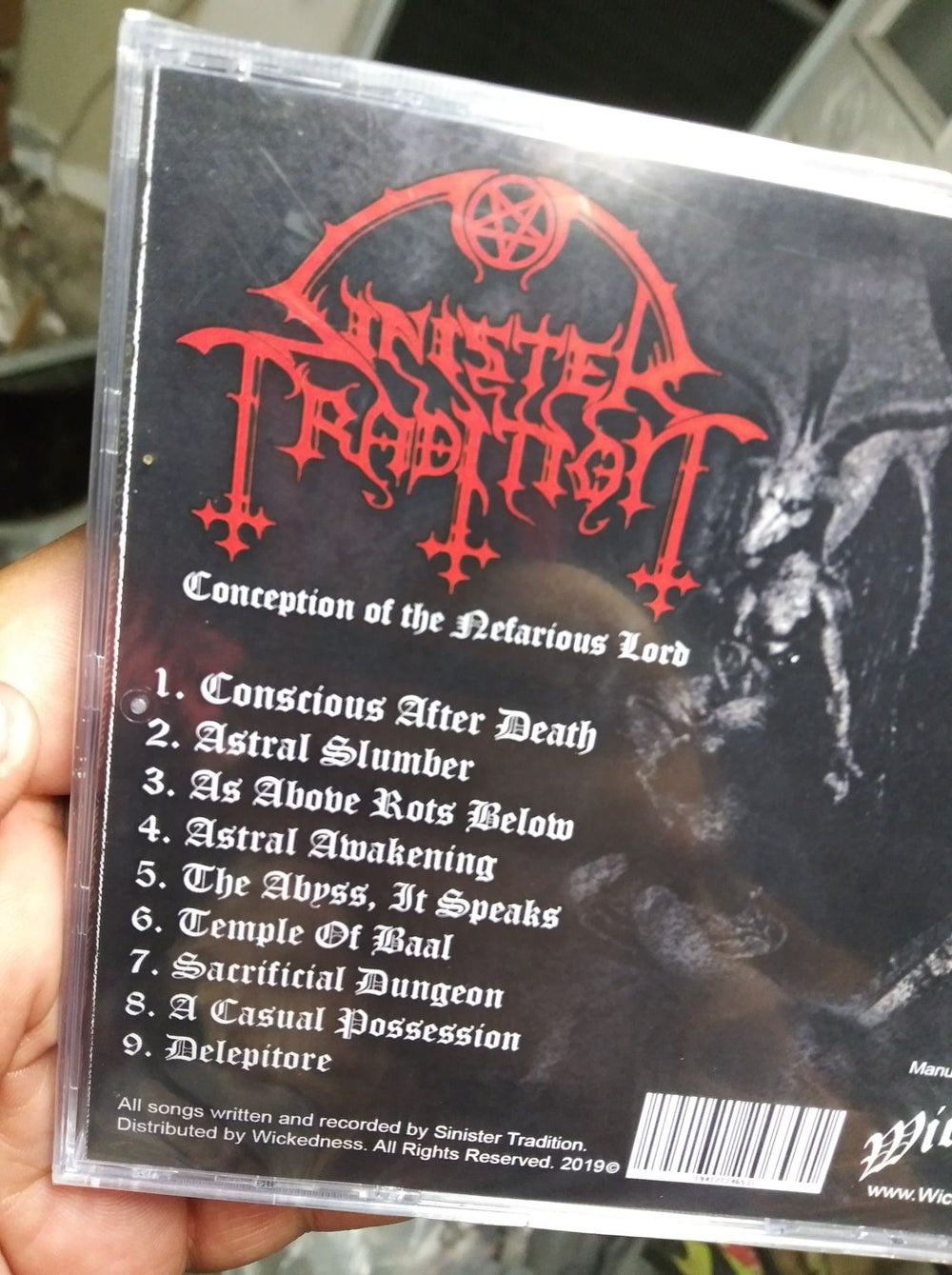 Sinister Tradition Conception of the Nefarious Lord CD