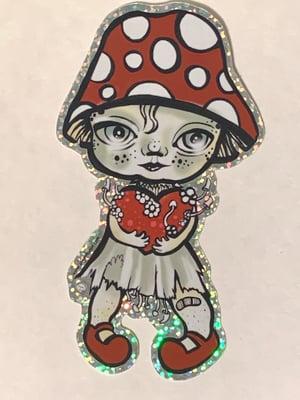 Image of Fungalina die cut glitter sticker