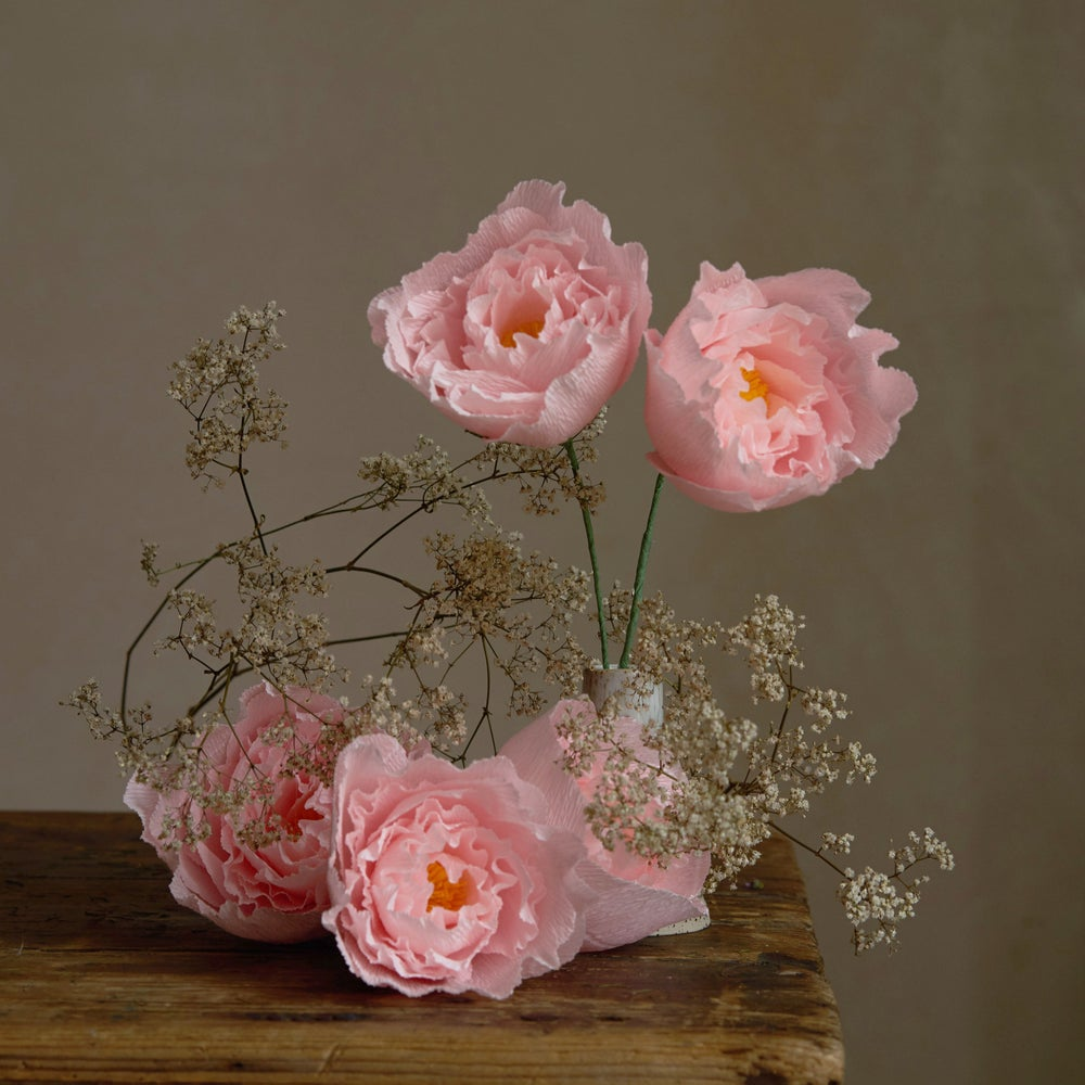 Image of <NEWLY ADDED> PAPER PEONY WORKSHOP - SEPTEMBER 20th 11AM-1PM