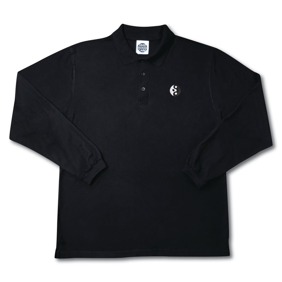 "Image of TAKEGOODCARE™ ""YINYANGISH""  POLO PIQUÉ LS"