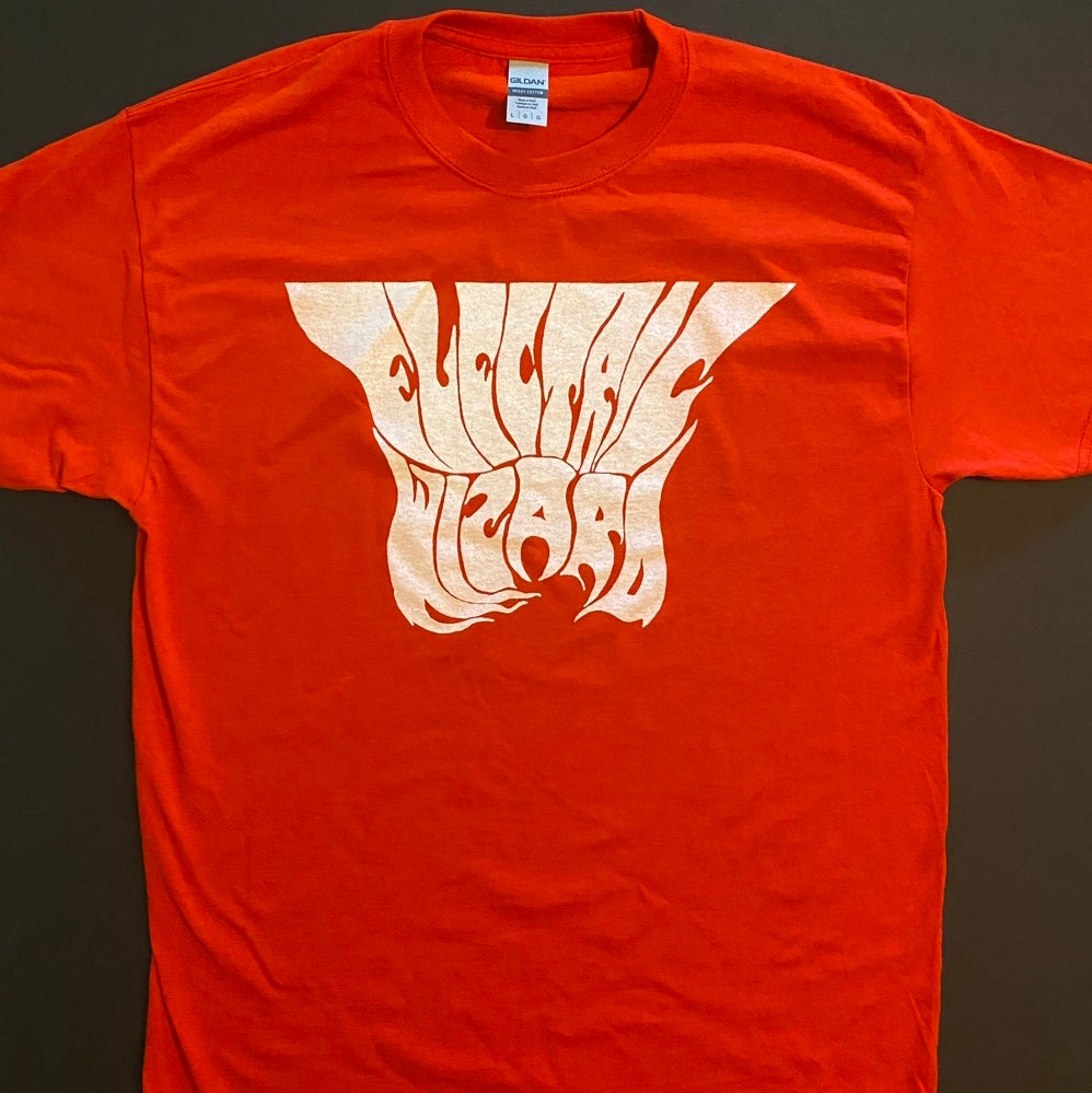 """Image of Electric Wizard """" Logo """" Red T shirt"""