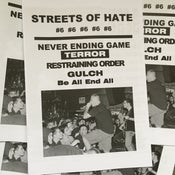 Image of Streets Of Hate Fanzine  #6