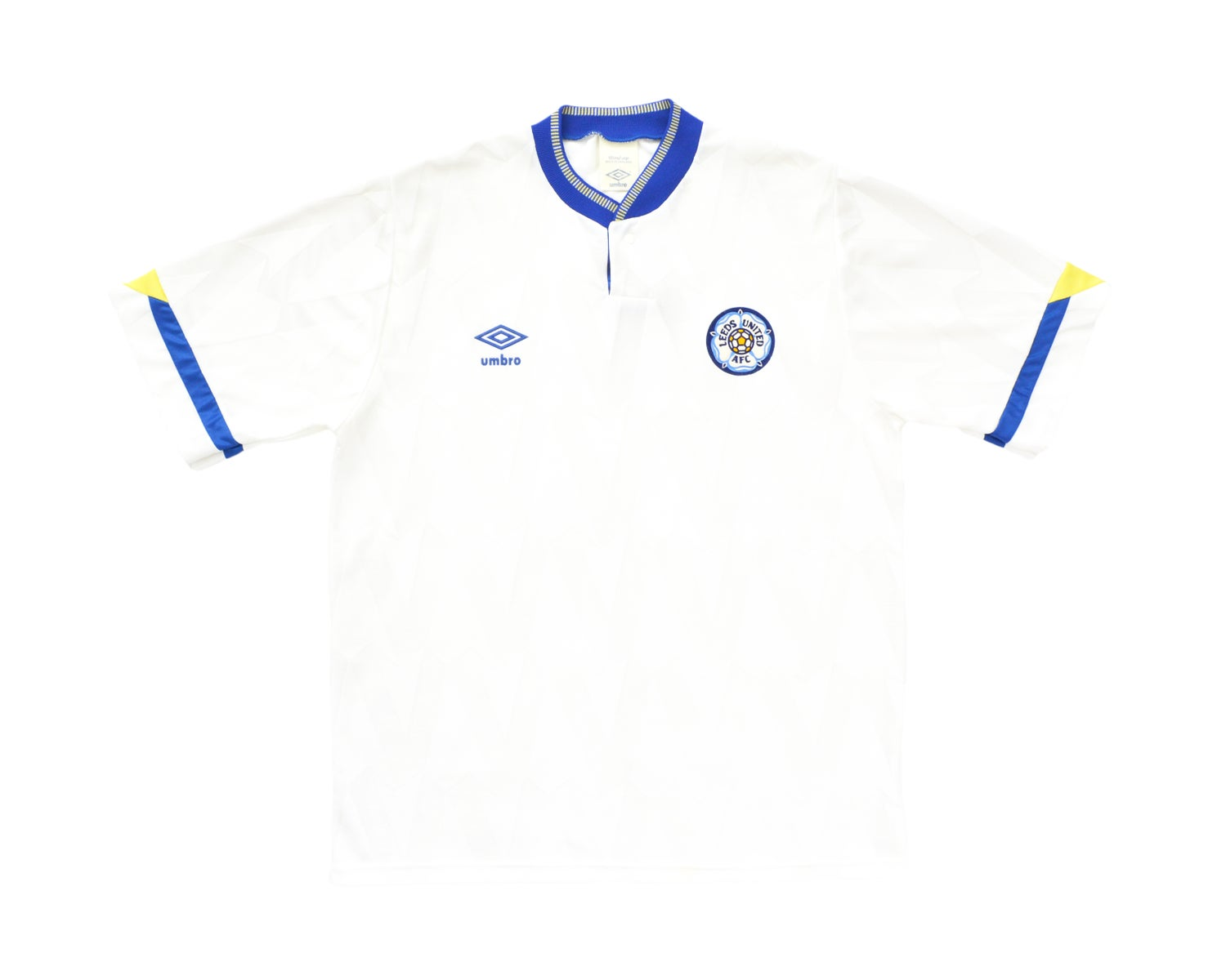 Image of 1990-91 Umbro Leeds Home Shirt L