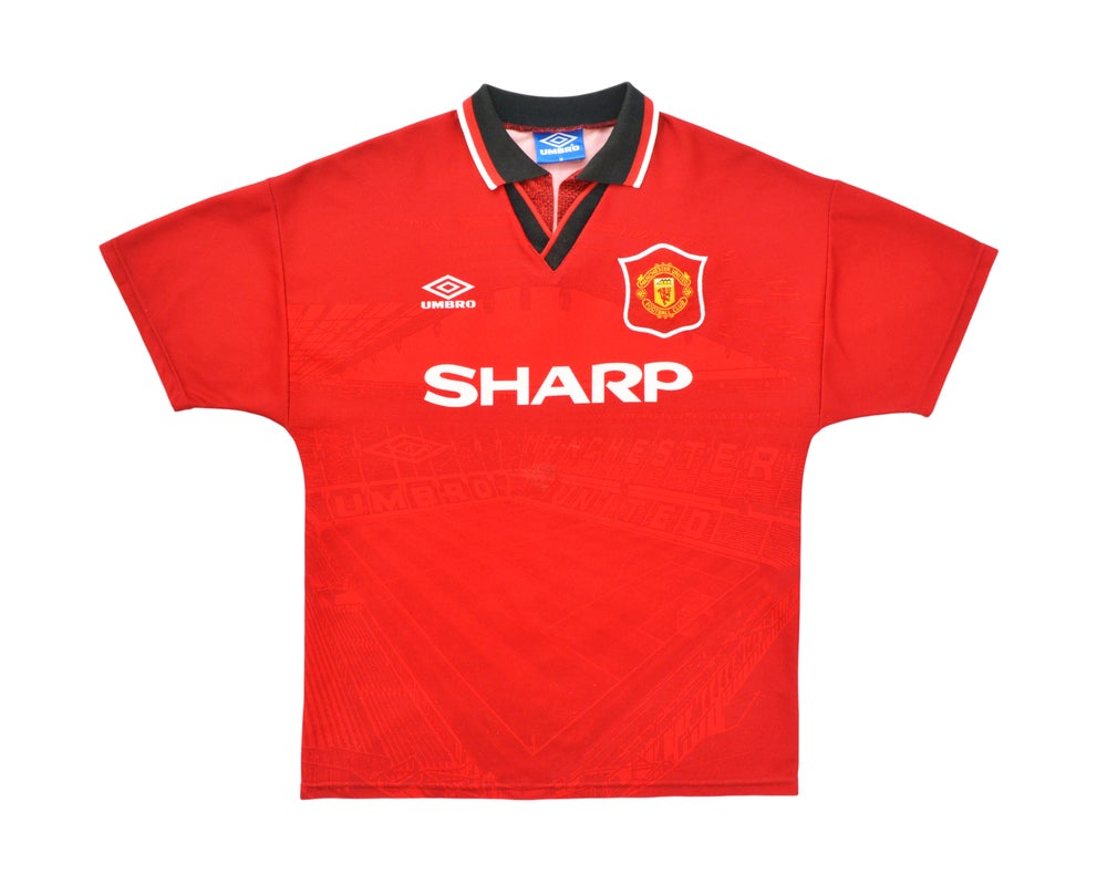 Image of 1994-96 Umbro Manchester United Home Shirt M