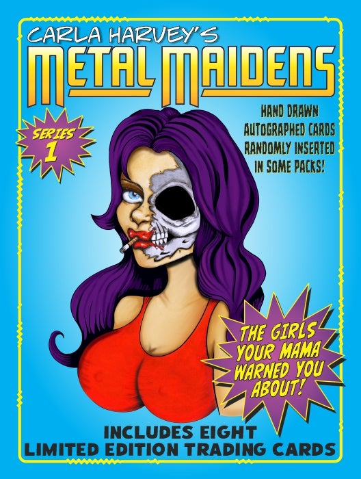 Image of METAL MAIDENS SERIES ONE TRADING CARDS