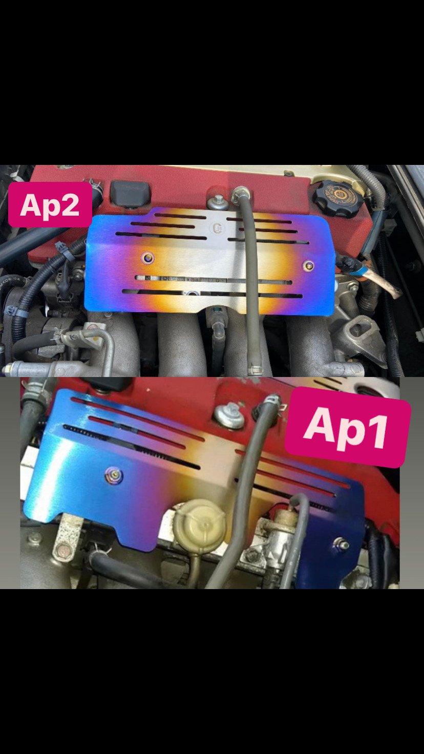 Image of Honda S2000 Titanium fuel rail cover