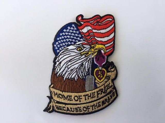 Image of Purple Heart Patriotic Eagle Patch