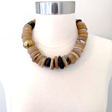 Image of Recycled Moroccan Horn Necklace