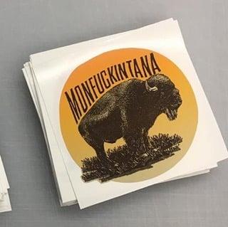 Image of New: Bison II Monfuckintana Sticker
