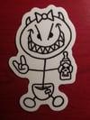 Peanut White Sticker