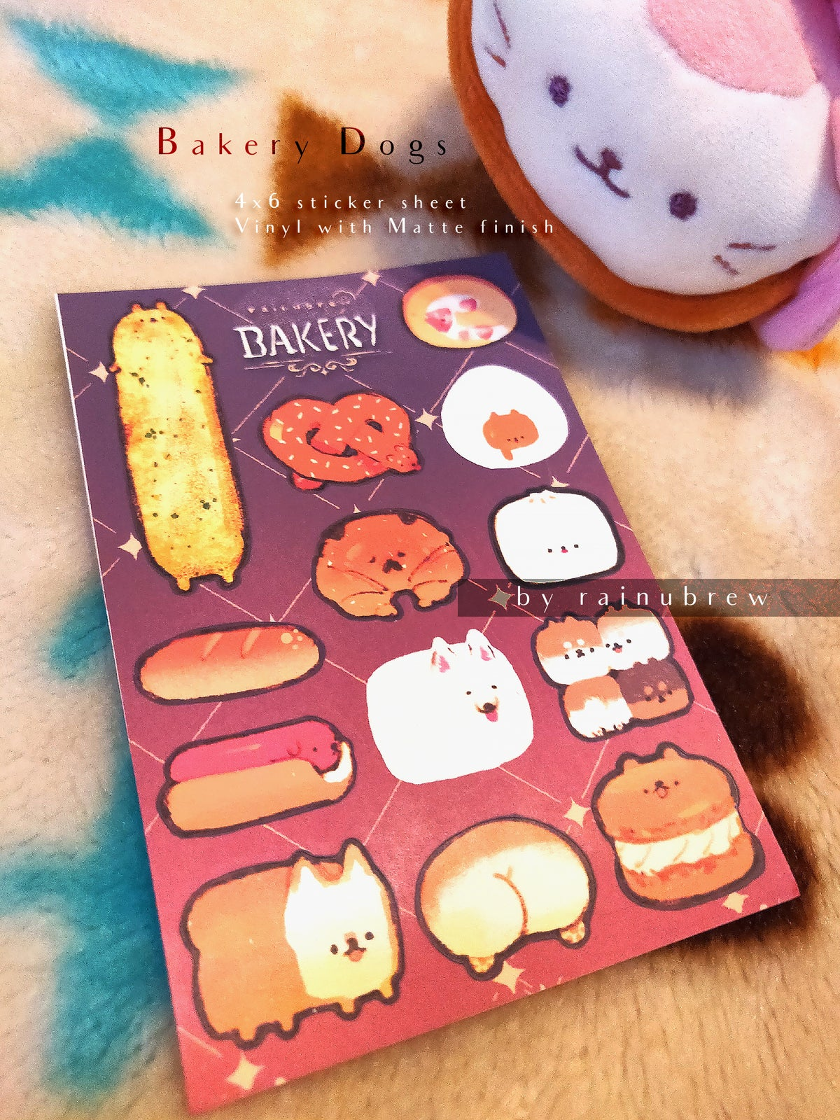Image of Bakery Doggos | 4x6 sticker sheets