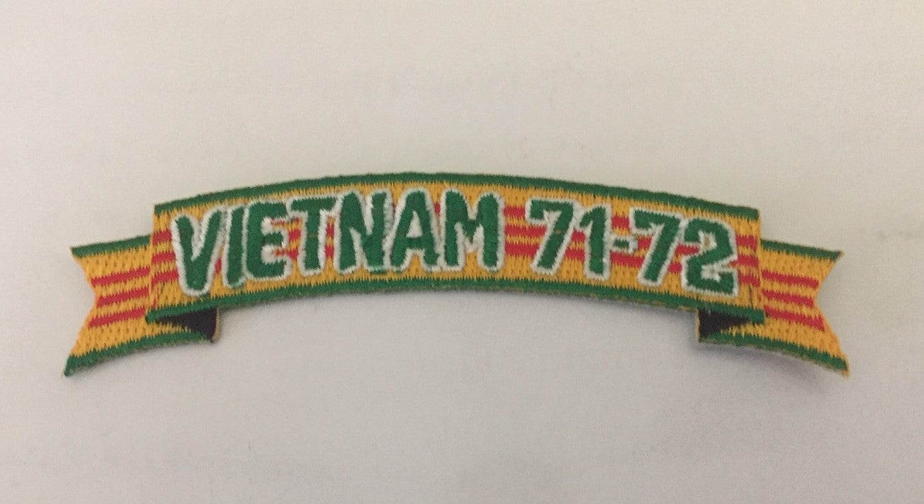 Image of Vietnam Veteran In Country Date 71'-72' Tab Patch