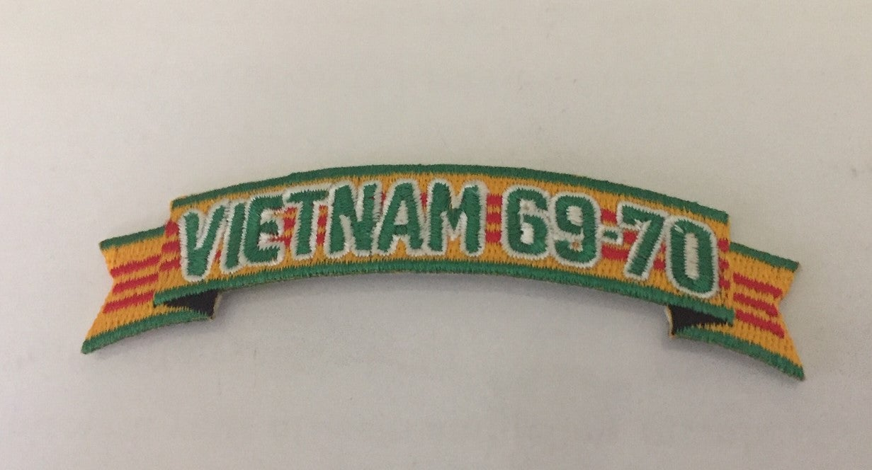 Image of Vietnam Veteran In Country Date 69'-70' Tab Patch