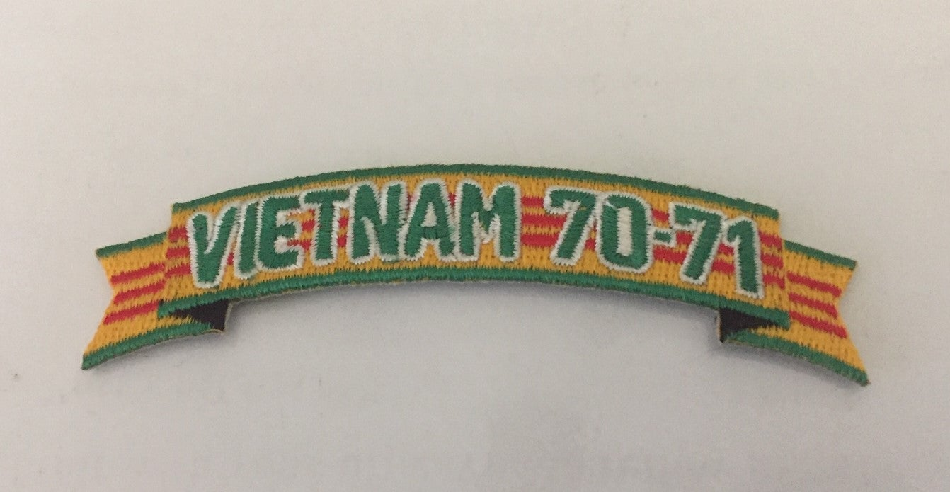 Image of Vietnam Veteran In Country Date 70'-71' Tab Patch