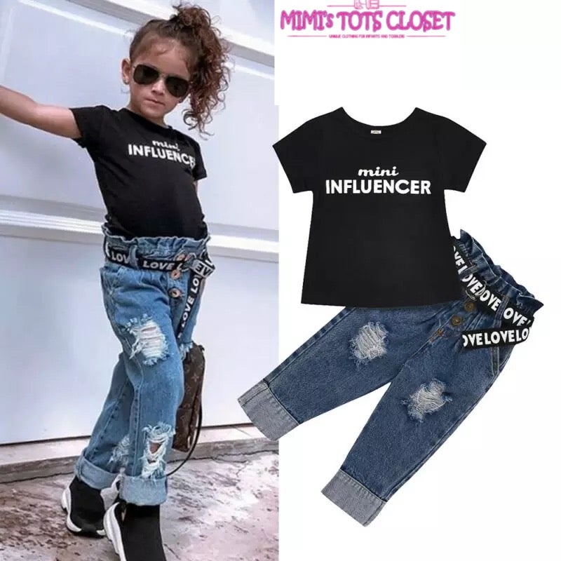 Image of Mini influencers Jean set