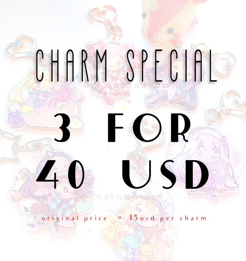Image of CHARM SPECIAL 3 FOR 40USD | CODE IN DESCRIPTION