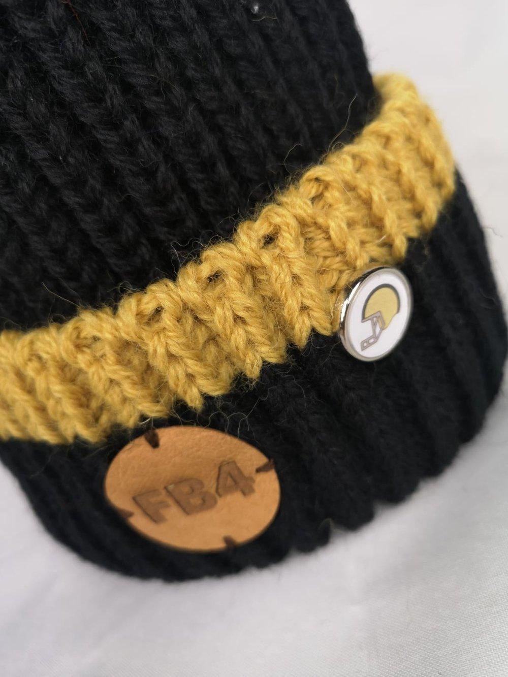 FLAT BACK 4 'NEW ORLEANS' 100% BRITISH WOOL BOBBLE HAT