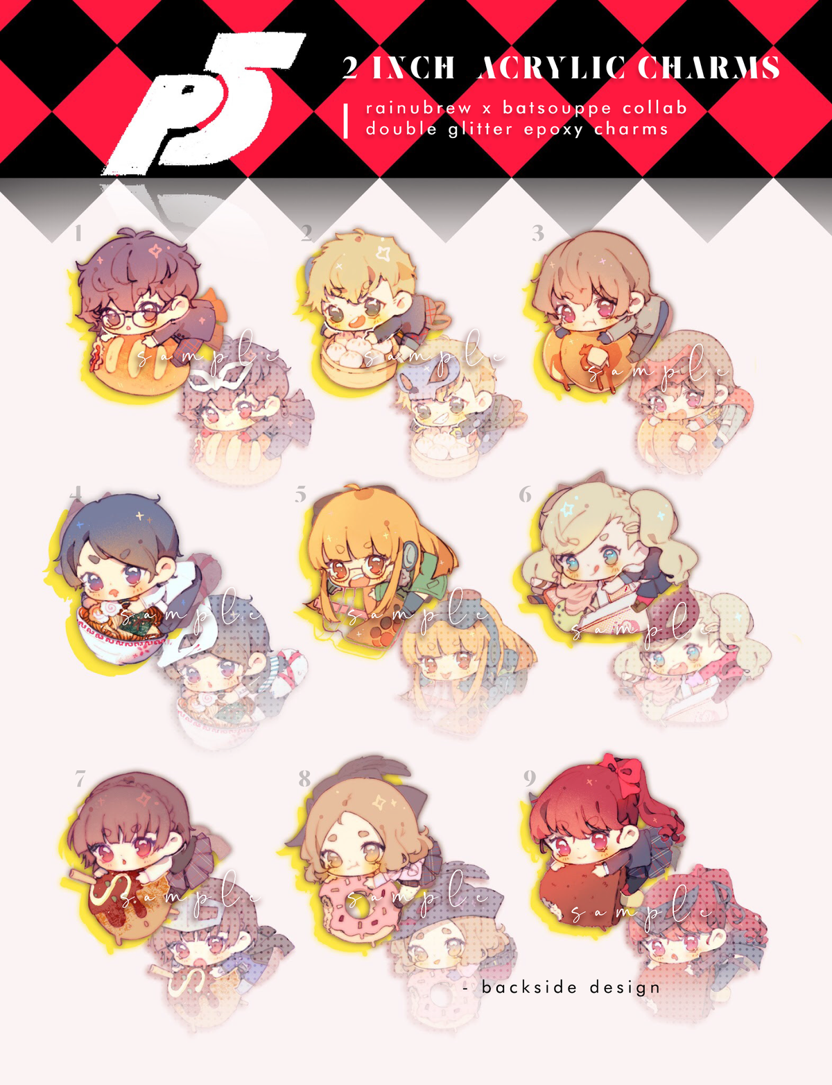 Image of Persona 5 | 2 inch charms