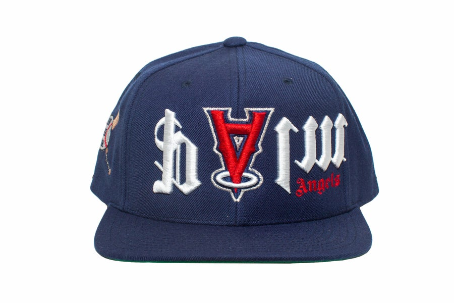 Image of Upside Down Navy PA SnapBack