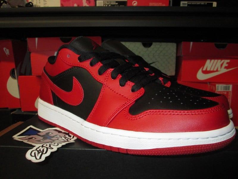 "Image of Air Jordan I (1) Retro Low ""Gym Red/Blk"""