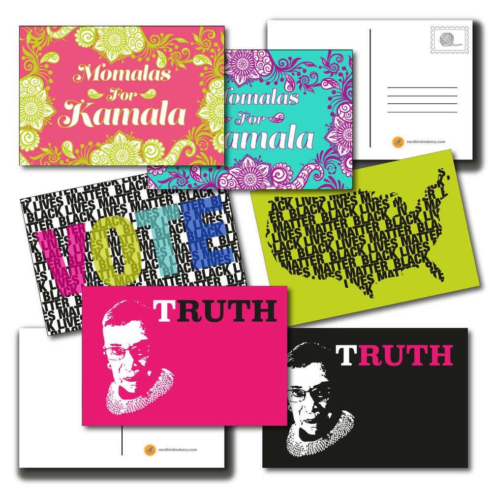Image of CAMPAIGN Package of 6 Post Cards