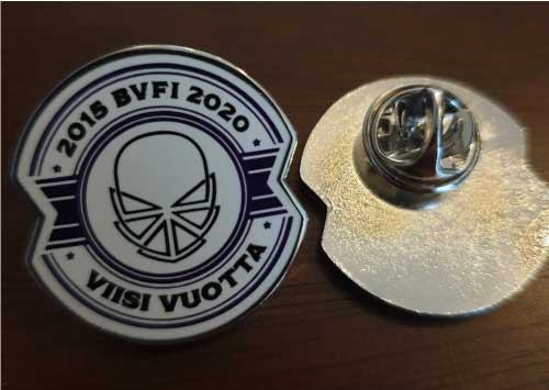 Image of BVFI Five year anniversary pin