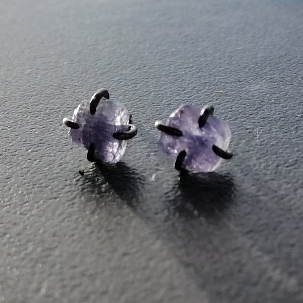 Image of Raw Tanzanite Gemmy Studs