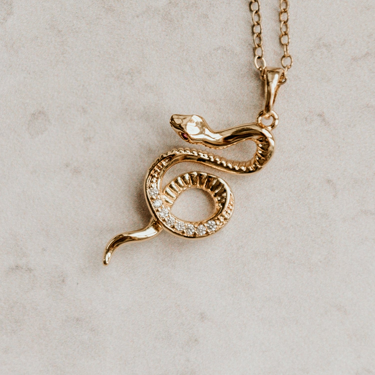 Image of Safira Snake Necklace