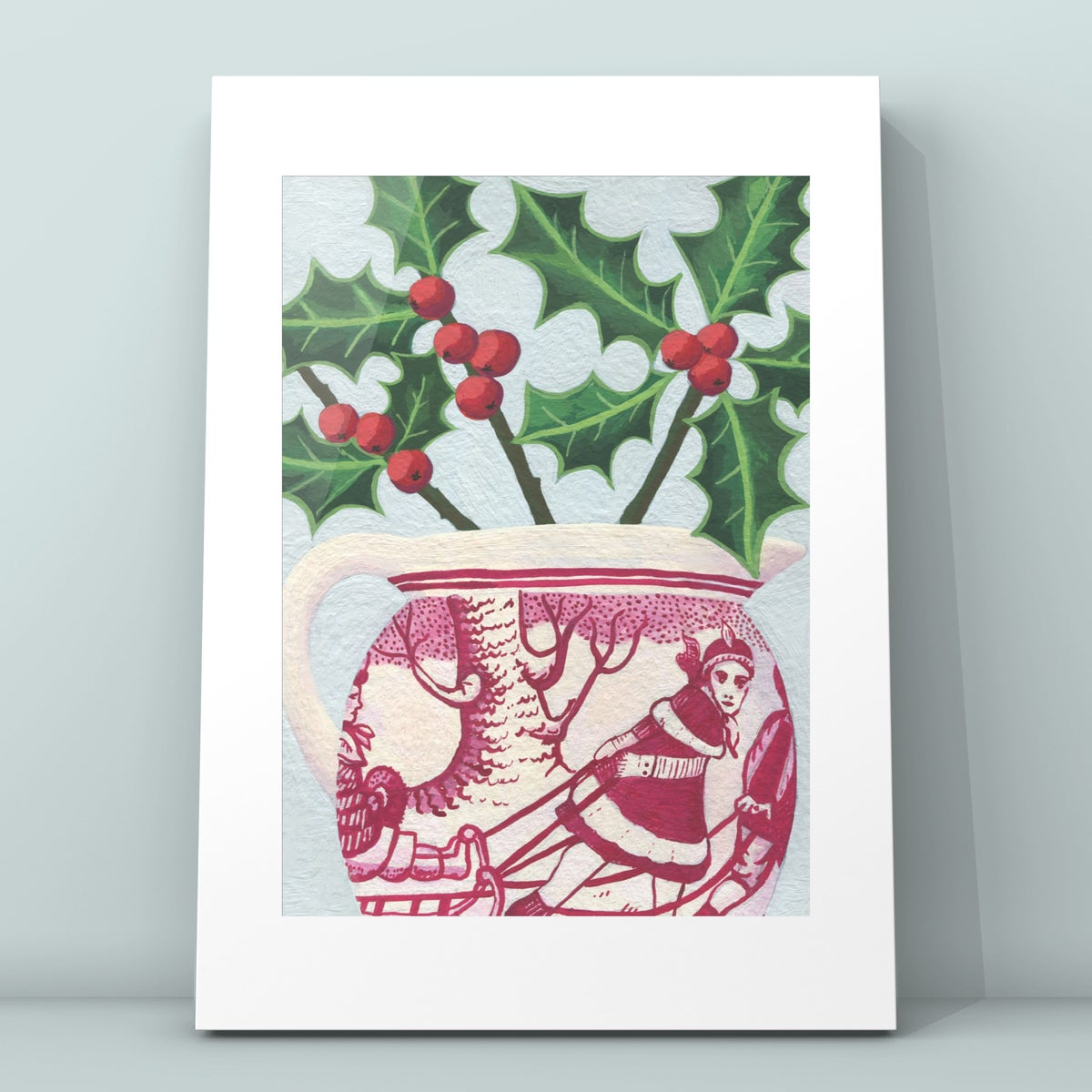 Holly in Sleigh Jug