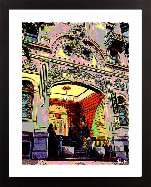 "Image of Congress Hotel/Marble Bar Baltimore Giclée Art Print - 11"" x 14"""