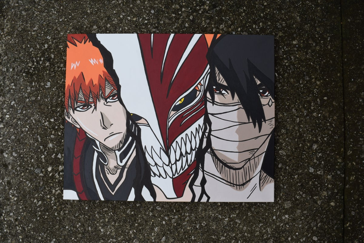 Image of 5x7 print- 3 forms of the Strawberry (Bleach)