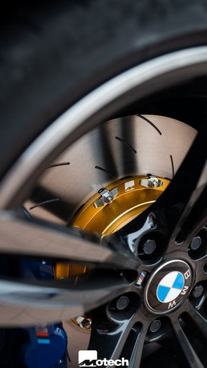 Image of EBC Exclusive Gold Motech Two-Piece Floating Disc & Pads (BMW M2 M3 M4)  With EBC pad