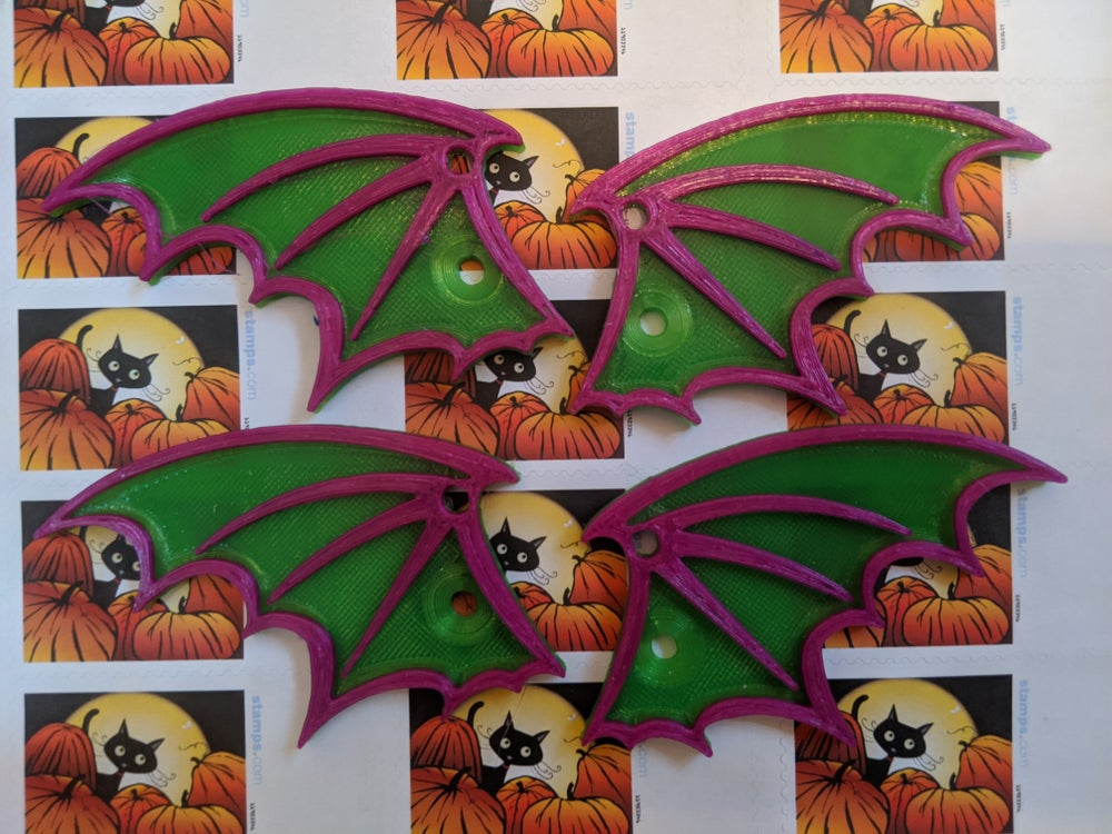 Image of Two Color Bat Wings
