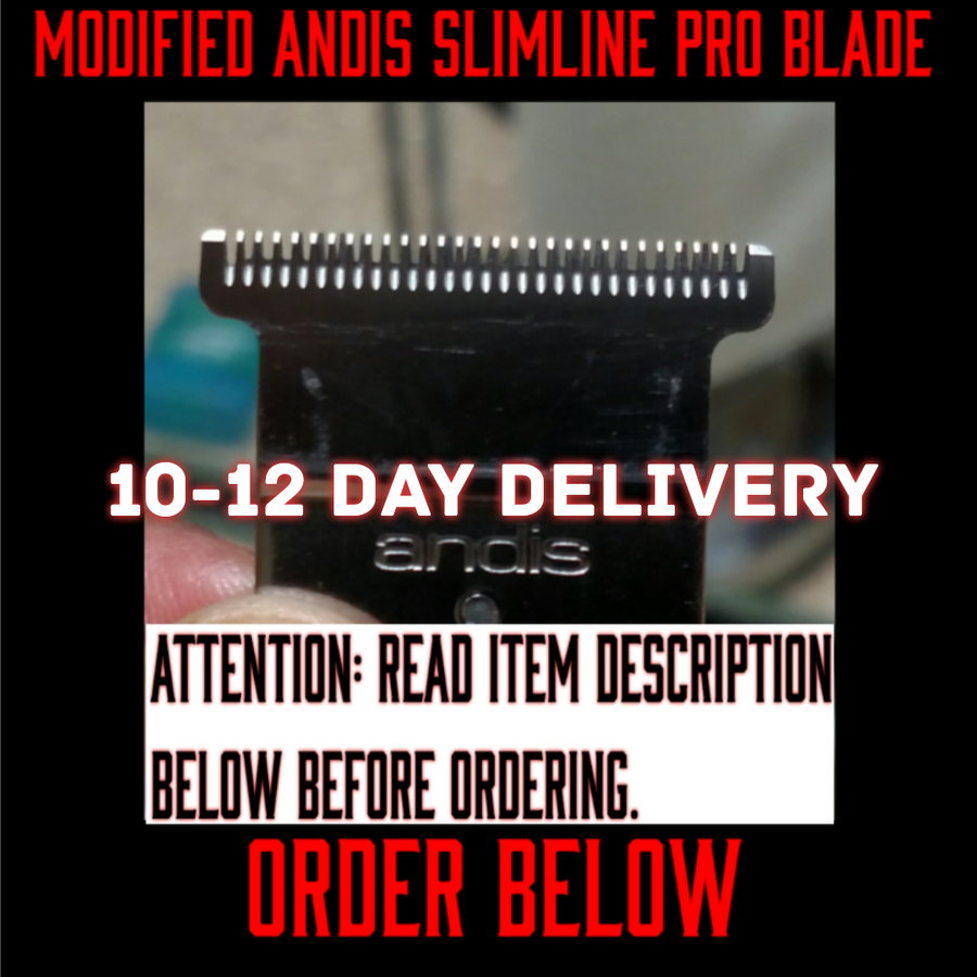 Image of (10-12 Day Delivery/Expedited) Modified Andis Slimline Pro Li Blade