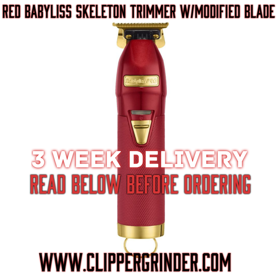 Image of (3 Week Delivery) Limited Edition Red Babyliss Skeleton Trimmer W/Modified Blade