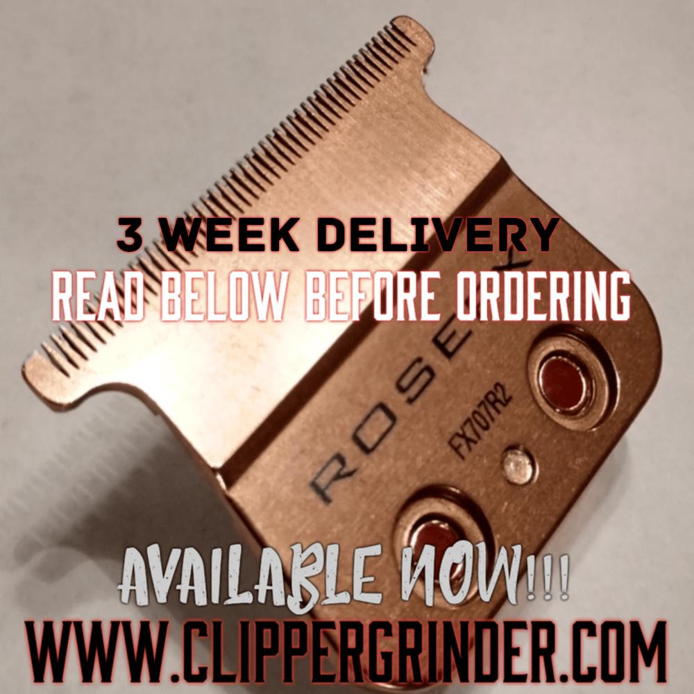"""Image of (3 Week Delivery/High Order Volume) Rose-Gold """"Modified"""" Babyliss FX Skeleton Trimmer Blade"""
