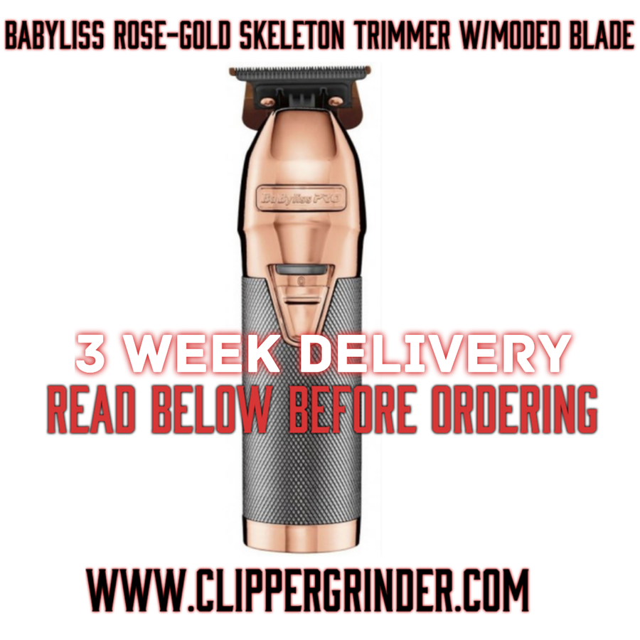 Image of (3 Week Delivery/High Order Volume) Babyliss Rose-Gold Skeleton Trimmer W/Modified Blade