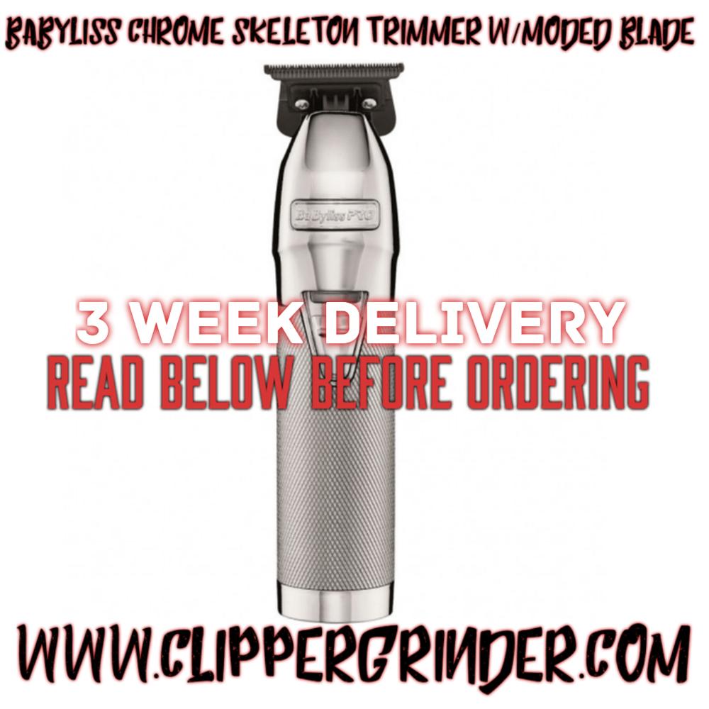 Image of (3 Week Delivery/High Order Volume) Chrome Babyliss FX Skeleton Trimmer