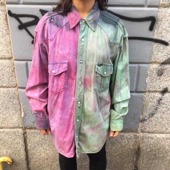 Image of UPCYCLING tye die shirt