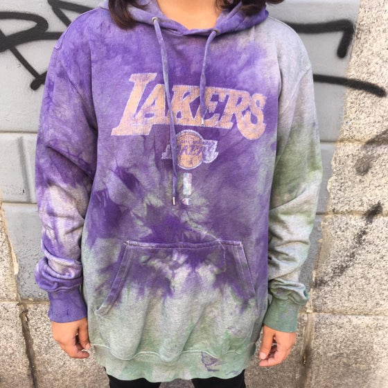 Image of UPCYCLING LAKERS HOODIE