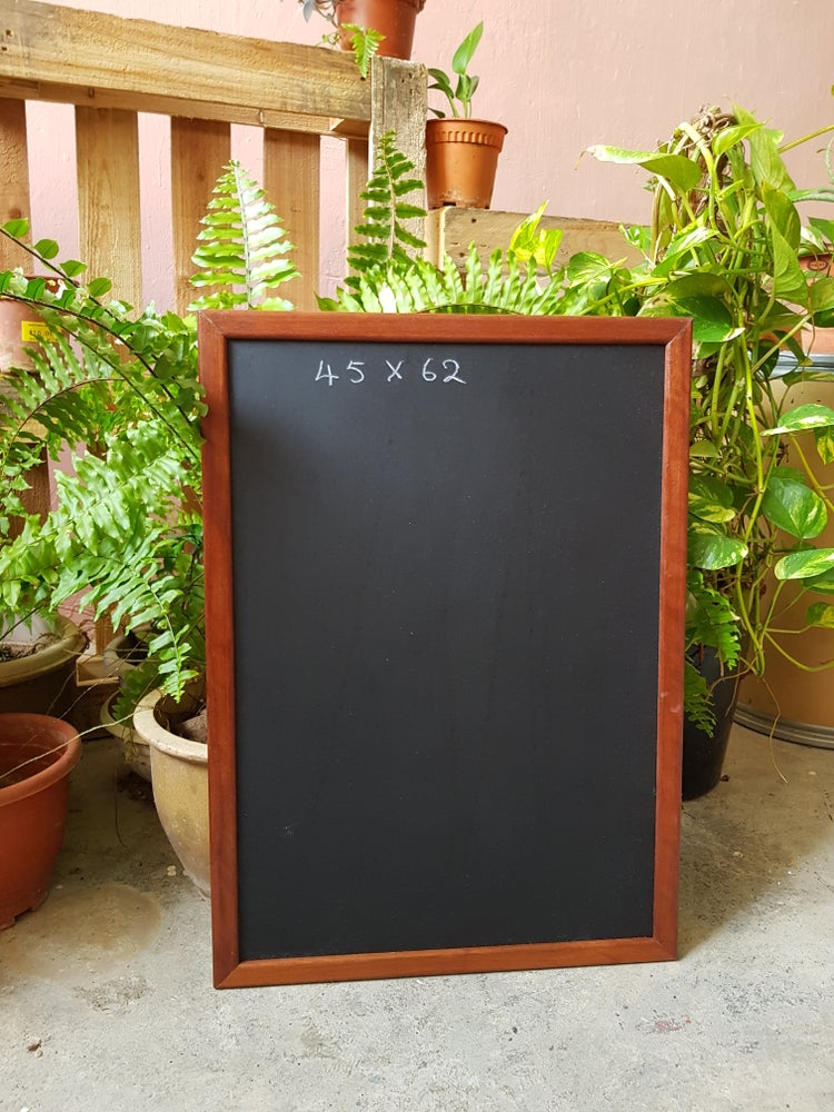 45 x 62 Chalkboard with Brown Frame