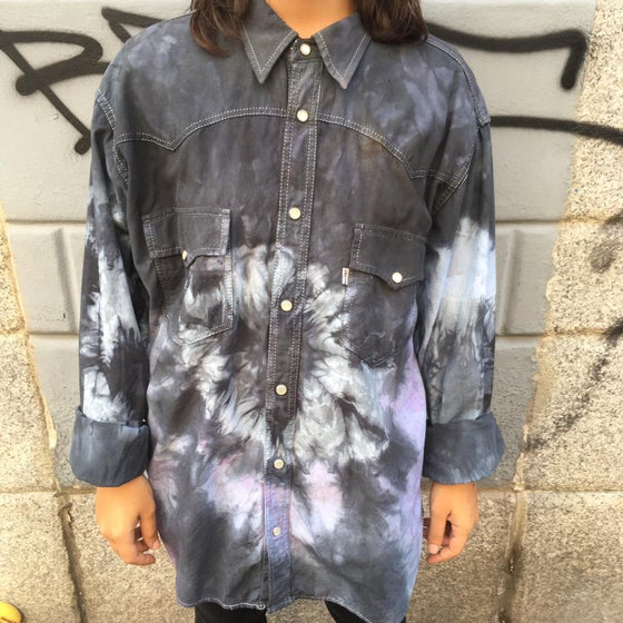 Image of UPCYCLING OVERSIZE TYE DIE SHIRT