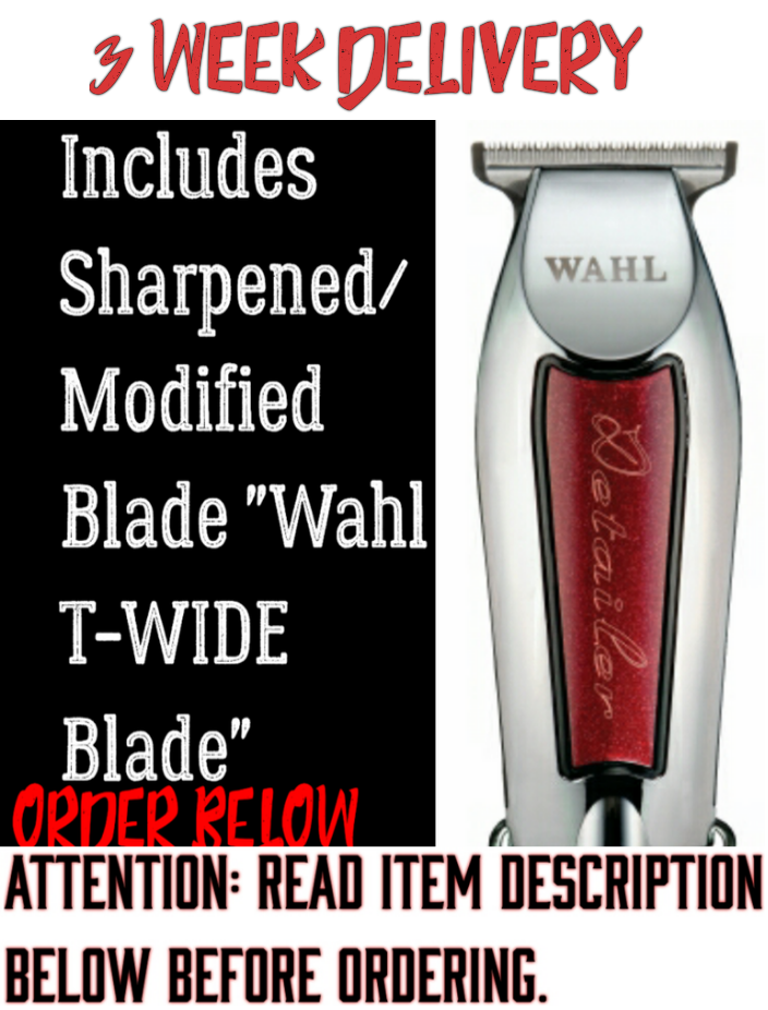Image of (3 Week Delivery/High Order Volume) Red Wahl Detailer / Includes Modified Wahl 5 🌟 T-Wide Blade
