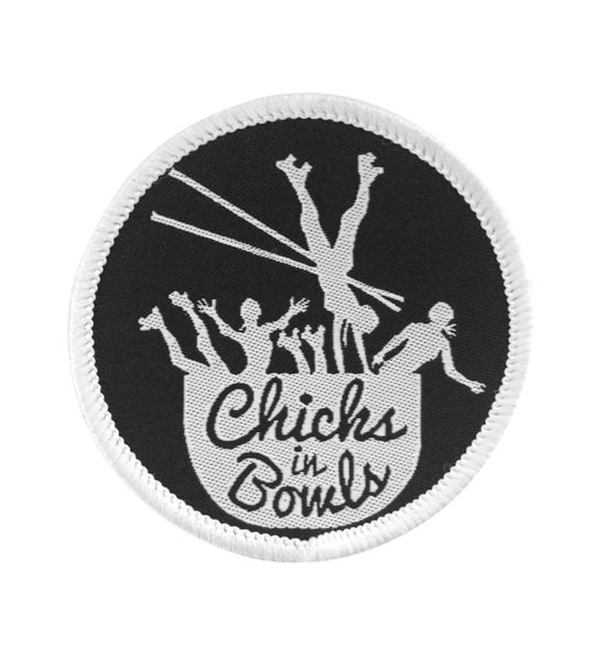 Image of Chicks In Bowls Woven Patch